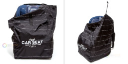 Car seat cover for air travel